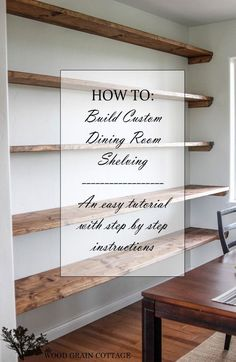 DIY Shelves Ideas : DIY Dining Room Open Shelving The Wood Grain Cottage