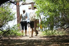 Walking through the mangroves to the miles of empty beaches with greenpathways.com on the kayaking and boozet beach BBQ