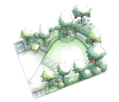 McQue Gardens Using Sketchup Photoshop for design work part