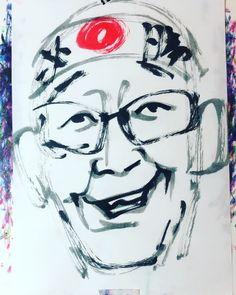 "torao fujimoto on Instagram: ""#sakamotochan #坂本ちゃん #comedian #コメディアン #アルカリ三世 #電波少年 #電波少年的東大一直線 #ケイコ先生 #19660402 #birthday #誕生日 #1minut #1分 #1mindraw  #一分描画 #portrait…"" Instagram"