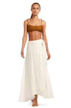 390cf35acb Love this breezy skirt #vitaminaswim Sustainable Fabrics, Positano, Natural  Linen, Two Piece. Vitamin A Swim