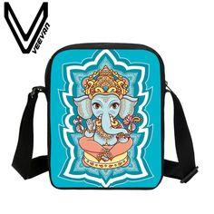 VEEVANV Brand 2017 Elephant Pattern 3D Printing Messenger Bag Women Crossbody School Student Shoulder