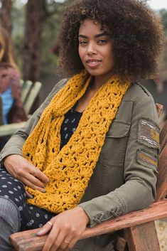This Moon Ridge Cowl by Jane Howorth is long enough to wrap twice around your neck to keep out the cold-weather chills. The ingenious chain-link closure is fun to work and is sure to get noticed. You'll certainly want to make more than one of them! Find it in Interweave Crochet Fall 2017.