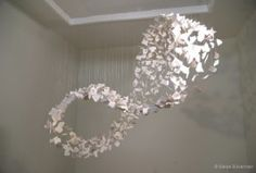 Saree Silverman Sculpture made from ceramic hand-cast gingko leaves