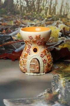 Aromalampe / fragrance lamp Honiglicht-Keramik