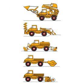 Unimog Baumaschinen-Programm