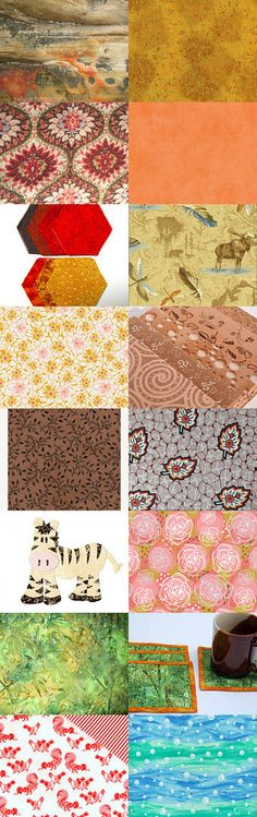 Fabrics Galore! by BlackBirdFabrics on Etsy--Pinned with TreasuryPin.com