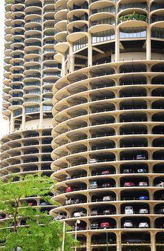 Chicago Marina Tower Car Park by Glyn Lowe Photoworks, via Flickr