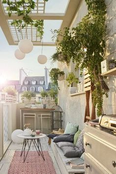 63 incredible backyard landscaping shed design and decor ideas 57 Apartment Balcony Decorating, Apartment Balconies, Shed Design, Balcony Design, Backyard Landscaping, Backyard Patio, Small Balcony Decor, Balcony Ideas, Outdoor Rooms