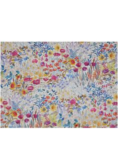 Liberty Furnishing Fabrics Faria Flowers Cotton Satin in Flower Bed | Roll Stock | Liberty.co.uk