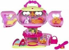 Every little girl who loves the My Little Pony line of toys will go crazy over these Ponyville Playsets and Ponies.    Fun designs and styles, and...