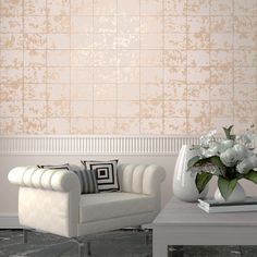 This Metallic Tile Wallpaper features tiles in matte blush pink overlaid with a rust effect pattern in rose gold and copper with a high shine metallic finish. Tile Wallpaper, Feature Wallpaper, Luxury Wallpaper, Contemporary Wallpaper, Designer Wallpaper Brands, Gold Metallic Wallpaper, Geometric Shapes Wallpaper, Stunning Wallpapers, Stylish Home Decor