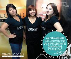 Presentamos a nuestras representantes de ventas que estarán visitando sus salones de belleza brindando asesoramiento sobre nuestros productos BRASIL CACAU y CADIVEU.