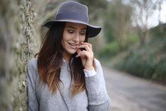 Portrait wearing my favourite Maison Michel hat