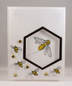 SC580 Beehive_lb by Clownmom - Cards and Paper Crafts at Splitcoaststampers