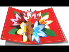 Making A 3d Flower Pop UP Card - Easy And Simple Steps   - YouTube