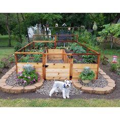 8 ft x 12 ft Western Red Cedar Raised Garden Bed garden beds Garden Design Plans, Backyard Garden Design, Backyard Landscaping, Home Garden Design, Diy Garden Bed, Fence Design, Backyard Ideas, Home Vegetable Garden Design, Garden Design Ideas On A Budget