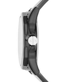 caef577dc68 Armani Exchange Men Drexler Black Polyurethane Strap Watch 44mm