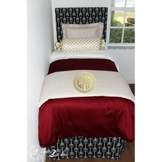 Florida State University FSU Designer Teen Girl & Dorm Room Bedding Set.Dorm Décor and More! Available in all bed sizes: twin, full/queen, and king. Custom pillows, exclusive bed scarf, window panels, wall art, bed skirts, and custom monogramming! Custom-made designer bedding and accessories. http://www.decor-2-ur-door.com/designer-dorm-bed-in-a-bag-sets/black-custom-bedding-sets-teen-girl-dorm-room-apartment-home-bed-in-a-bag/florida-state-fsu-designer-teen-amp-dorm-bed-in-a-bag?utm_content...