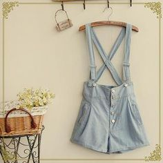 'Fairyland – Denim Suspender Shorts'