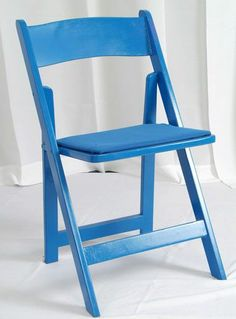 Medium Blue Painted Wood Folding Chairs  Med Blue Padded SeatsYellow Painted Wood Folding Chairs  Yellow Padded Seats    Chairs  . Padded Folding Chairs Wood. Home Design Ideas