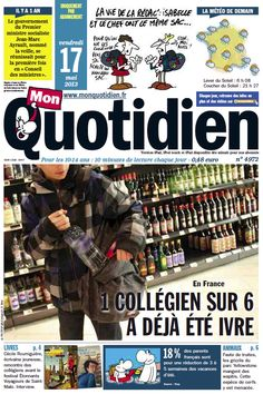 Roughly translated, this is a magazine for kids. about alcohol Ap French, Core French, Learn French, Teaching Culture, Teaching Schools, Foreign Language Teaching, Classroom Language, French Teaching Resources, Teaching French