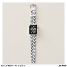 Vintage hipster cat apple watch band #cats #funnycats #hipster #lolcats