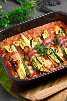 Zucchini-Päckchen in Tomatensoße - schwarzgrueneszebra