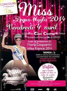 Election de Miss Dreux Agglo 2014, ce soir à 20H30 au Ciné Centre #Dreux #missdreuxagglo @floracoquerel @Jenn France