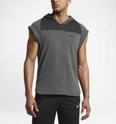 bbff3336c2fa1 Nike Dry Pullover Sleeveless Training Hoodie NEW 848511 010 Men s Size 2XLT   120  Nike  ShirtsTops