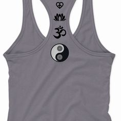 NEW YOGA Symbols Om Aum Namaste Mind Body Soul Racer Tank Tops Women S-2XL