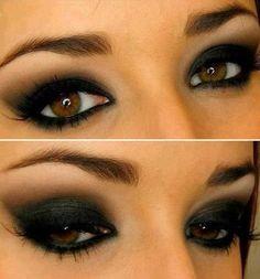 dark black eye