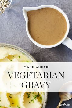 Make-Ahead Vegetarian Gravy via @PureWow