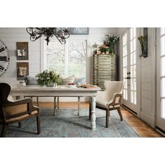 Magnolia Home Light & Dark Blue Ella Rose Area Rug #JoannaGaines https://www.franceandson.com/brands/magnolia-home.html