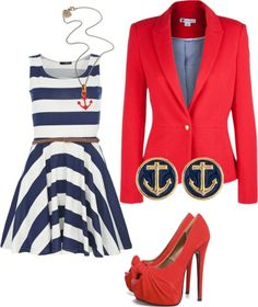 """Nautical"" by rylenlemons on Polyvore"