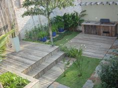 GILBERTO ELKIS PAISAGISMO www.gilbertoelkis.com.br Side Yards, Composite Decking, Decks, Outdoors, Wood, Outdoor Decor, Home Decor, Cities, Landscaping