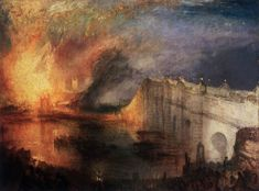 Joseph Mallord William Turner, The Burning of the Houses of Lords and Commons, October 16, 1834, 1834-35, Oil on canvas, 92 x 123 cm, Museum of Art, Philadelphia