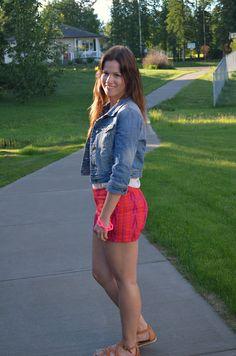 A pair of Gap ikat shorts as seen on the blog Born Lippy.
