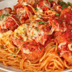 Shrimp Parmigiana from Emeril Lagasse - Use Emeril's Essence and Homestyle Marinara for the perfect parmigiana! #tasty #recipe - emerilscooking.com
