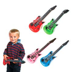 Inflatable Rock Star Guitar Assortment (1 dz)