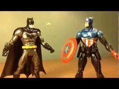Arkham orgins week: batman vs captain america stop motion - YouTube