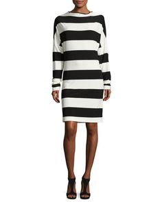 NORMA KAMALI ALL-IN-ONE STRIPED DRESS. #normakamali #cloth #