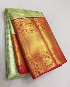 Pure Handloom gold zari kanjivaram silk sarees Pl contact us at for orders and details We accept online… Silk Saree Kanchipuram, Silk Sarees, Beautiful Saree, Indian Sarees, Saree Blouse, Blouse Designs, Pure Products, Bride, Clothes For Women