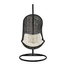 Best Wicker Swings and Wicker Porch Swings For Your Home! We love wicker and rattan swings for your porch, patio, balcony, or deck. Painting Wicker Furniture, Outdoor Wicker Furniture, Wicker Sofa, Rattan, Wicker Porch Swing, Porch Swings, Canopy Swing, Swing Design, Painted Wicker