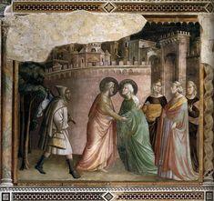 Встреча Иоакима и Анны у Золотых ворот. 1330 Фреска. Капелла Барончелли, Санта-Кроче, Флоренция. http://www.wga.hu/support/viewer/z.html