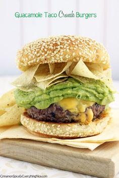 Guacamole Taco Crunch Burgers Recipe on Yummly