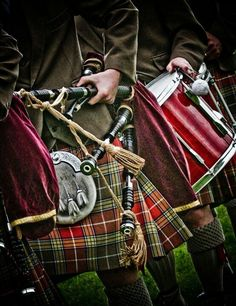 Scotland, Piper and Drummer by Richard Findlay