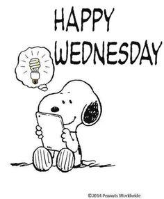 Snoopy happy Wednesday