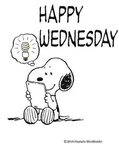 Snoopy happy Wednesday