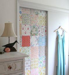 Idea para decorar el armario con telas.